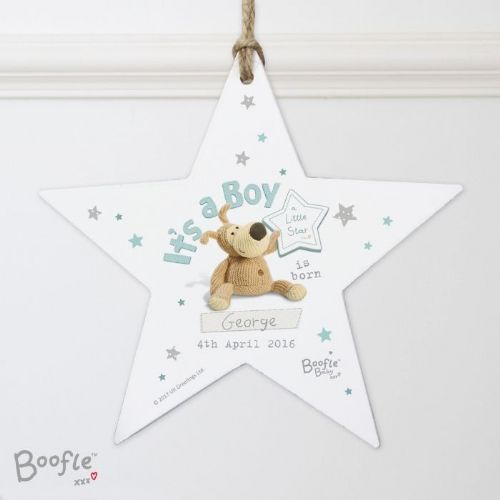 Boofle Its a Boy Wooden Star Decoration